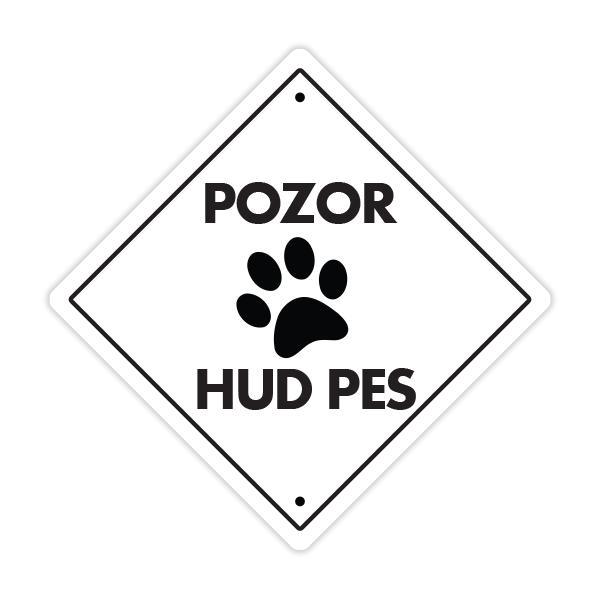 pozor hud pes tablica za pse