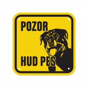 pasma Rottweiler, tablice za se z napisom Pozor hud pes