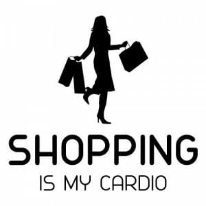 Shopping is my cardio nalepka, okrasne nalepke za avto