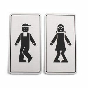 Wc set tablic za stranišče moški ženska
