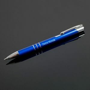 Moder kemični svinčnik, graviran