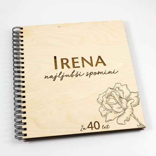 Foto knjiga Spomini, darilo za obletnice, foto album z imenom in številko obletnice