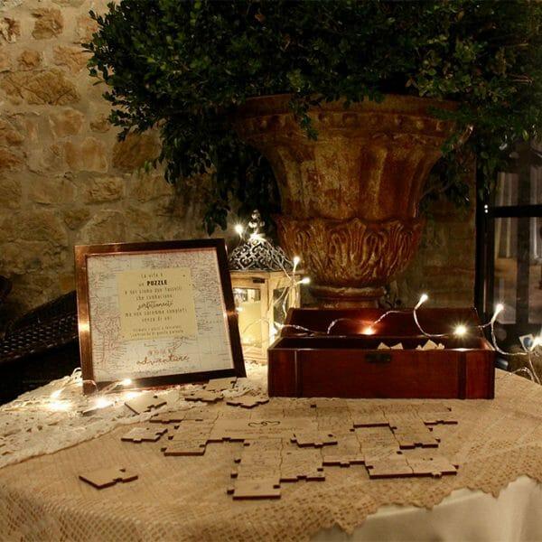 Poročni puzzle knjiga gostov za poroko