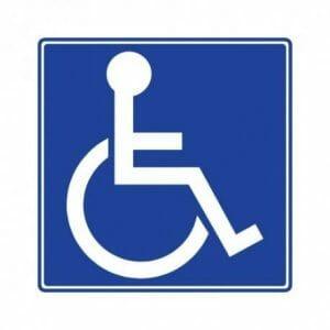 znak za invalide, nalepka ali kot magnetna nalepka v dveh velikostih