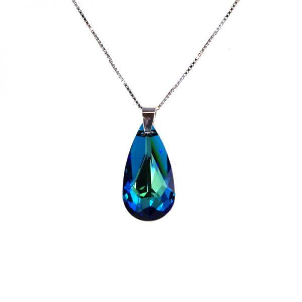 swarovski kristali, nakit moder kristal