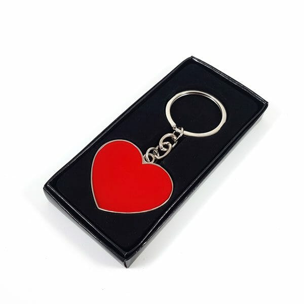 Srce kovinski obesek za ključe