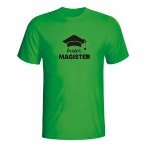 Bister magister, majica za napisom