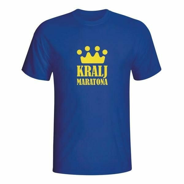 Kralj maratona, majica z lastnim napisom