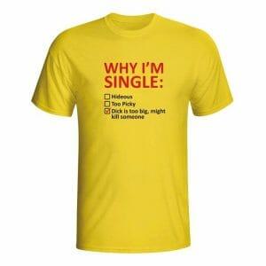 Why I'm single, moška majica