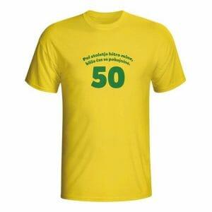 Pol stoletja hitro mine, majica