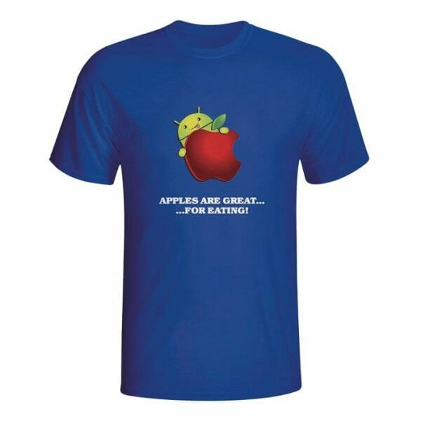 Android, Apples are great for eating, majica