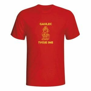 Gasilec, majica z napisom po želji