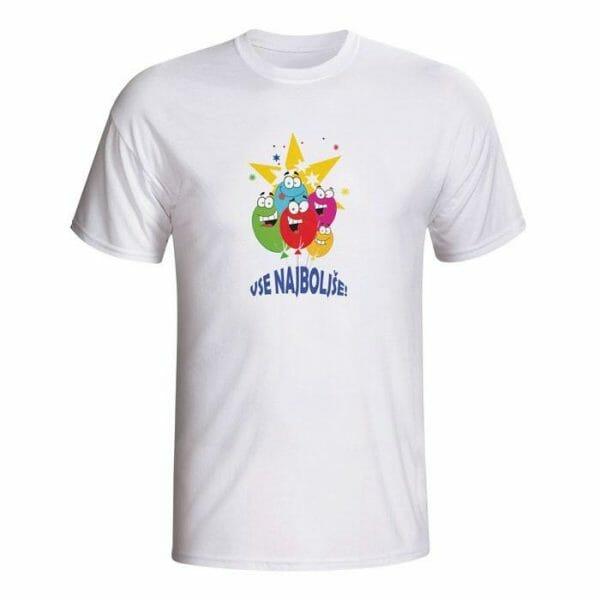 Vse najboljše majica za rojstni dan
