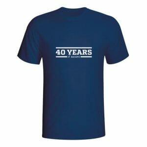40 years of awesome, majica z lastno letnico