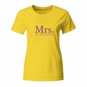 Mrs. napis po želji, majica
