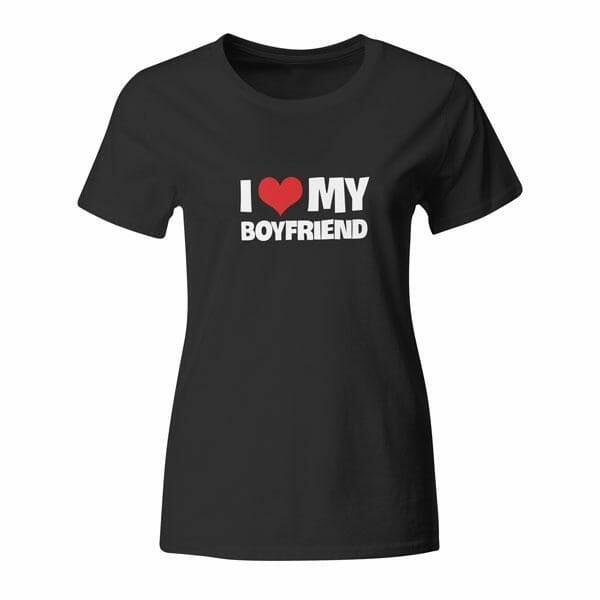 I love my Boyfriend, ženska majica