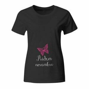 Pridem novembra, majica za nosečnice z lastnim besedilom