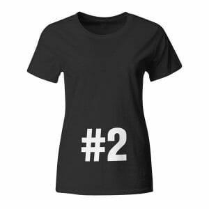 Otrok #2, majica za nosečnice z napisom po želji