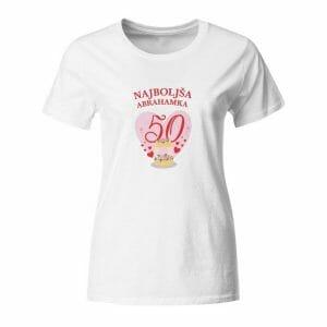 Najboljša abrahamka 50, ženska majica