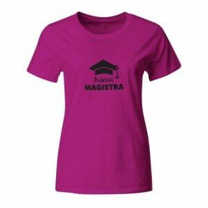 Bistra magistra, ženska majica z napisom po želji