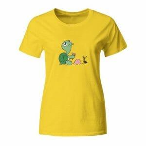 Želva in mravlja, majica