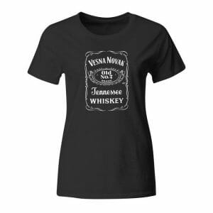 Jack Daniel's, ženska majica z lastnim napisom