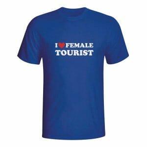 I love female tourist, majica